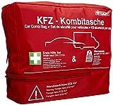 Kalff KFZ Kombitasche TRIO Compact, Verbandstasche Auto + Warnweste +...