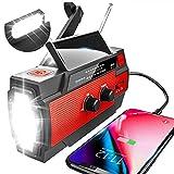 YIKANWEN Solar Radio,AM/FM Kurbelradio Tragbar USB Notfallradio mit...